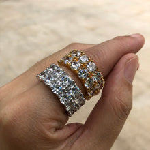 Load image into Gallery viewer, TWO ROW RING | - 18K Gold & White Gold