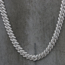 Load image into Gallery viewer, CUBAN PRONG CHAIN | 12mm | - 18K White Gold