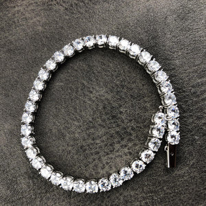 TENNIS BRACELET | - 18K White Gold
