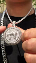 Load image into Gallery viewer, CUSTOM SPINNING PENDANT | - 18K White Gold/Gold