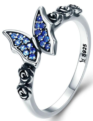 L'ouverture |  Blue Butterfly | Sterling Silver 925