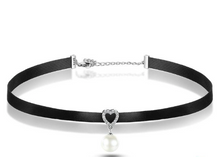 Load image into Gallery viewer, L'ouverture | Heart Kissed Choker | Sterling Silver 925