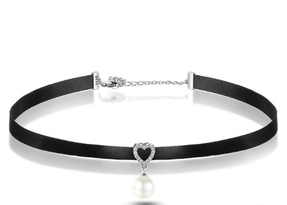L'ouverture | Heart Kissed Choker | Sterling Silver 925