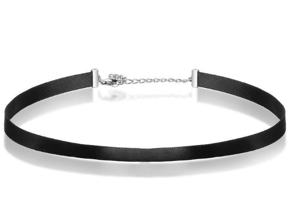L'ouverture | Silver & Black Choker | Sterling Silver 925