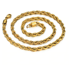 Load image into Gallery viewer, FINE ROPE | - 18K Gold