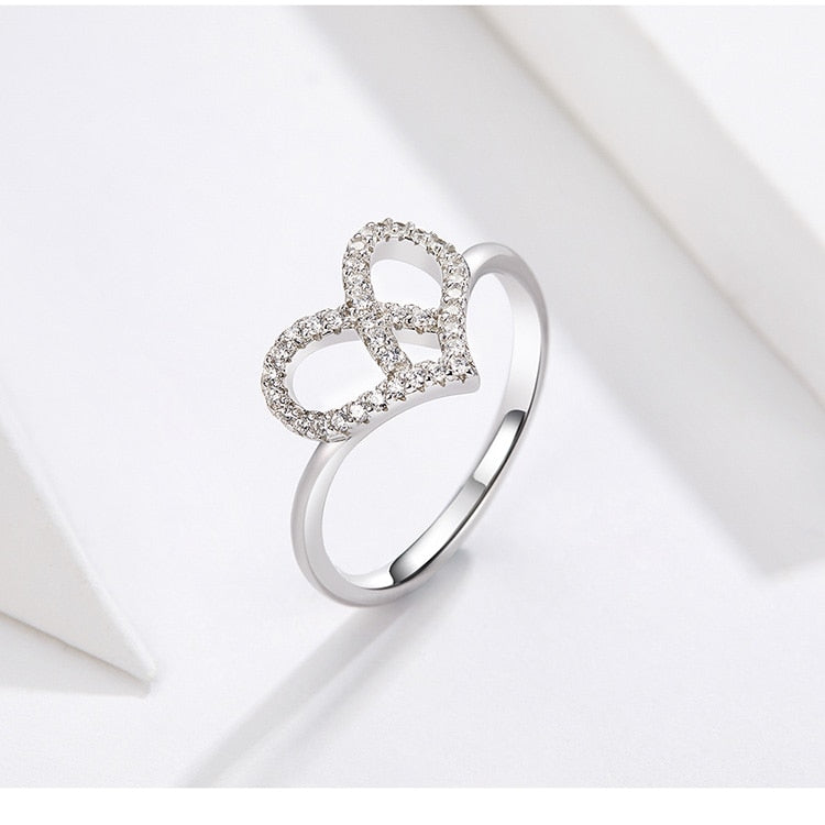 L'ouverture | Intertwined Heart | Sterling Silver 925