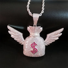 Load image into Gallery viewer, Winged Dollar Pendant