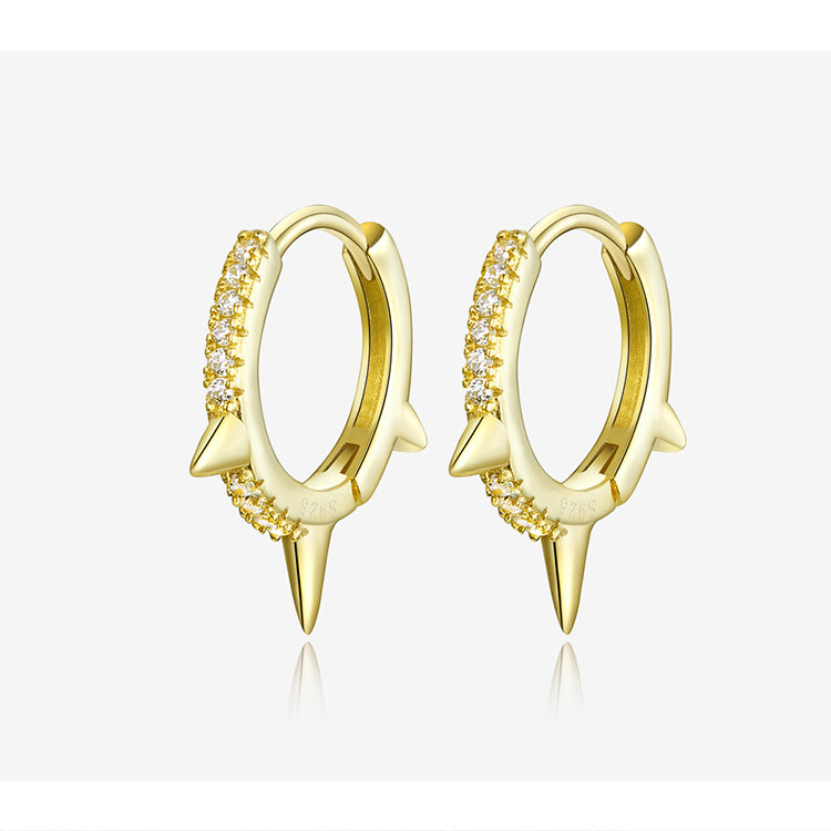 L'ouverture | Spiked Hoops | Sterling Silver 925