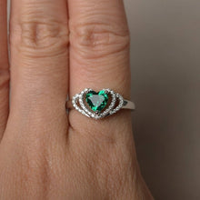 Load image into Gallery viewer, L'ouverture | Double Heart | Sterling Silver 925