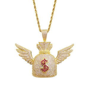 Winged Dollar Pendant