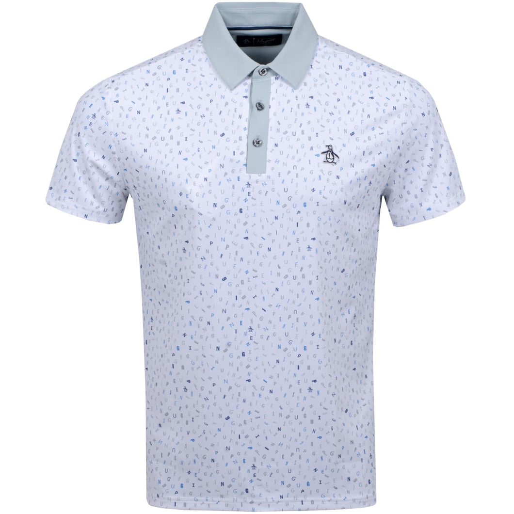 SPELLING PETE PRINTED POLO BRIGHT WHITE