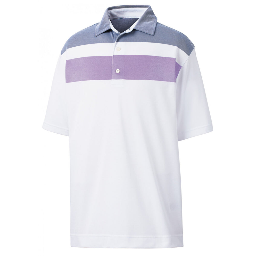 DOUBLE BLOCK BIRDSEYE PIQUE POLO