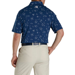 LISLE FLOCK OF BIRDS PRINT POLO
