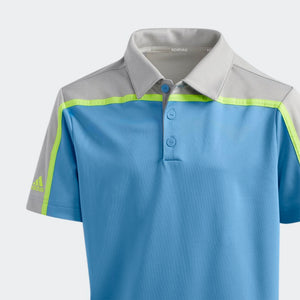 BOYS HEATHERED COLORBLOCKED POLO