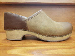 Dansko Brenna Tan burnished suede leather