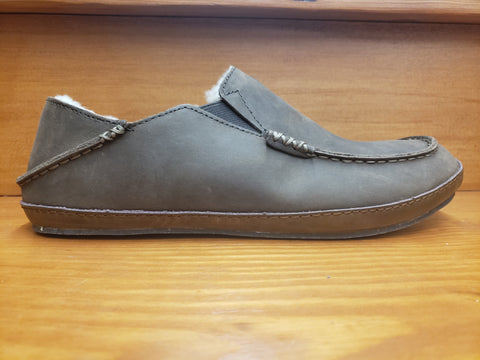 Olukai Moloa Slipper Dark Wood nubuck leather 10252-6363