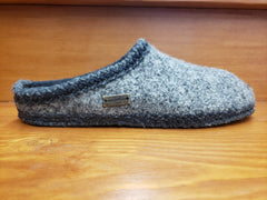 Haflinger AS classic slipper grey speckle  612001-4