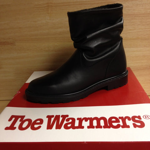 Toe Warmers Black Leather Sz 7 Nar