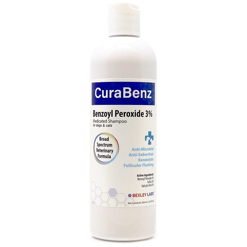 Curaseb CuraBenz Benzoyl Peroxide Shampoo for Dogs and Cats