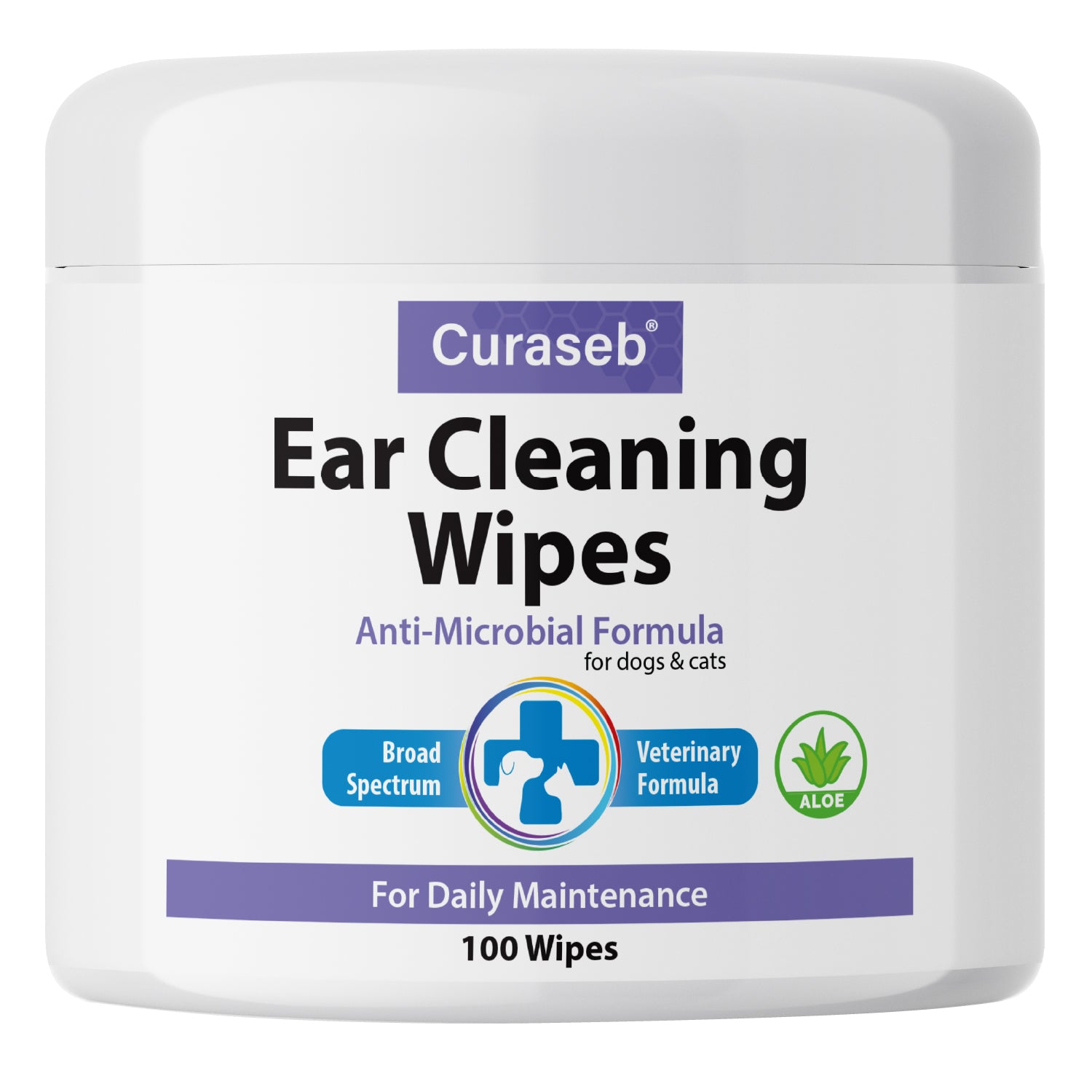 Curaseb Otic Ear Cleaning Wipes for Dogs and Cats