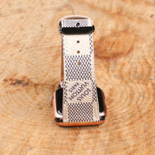 Load image into Gallery viewer, White LV Authentic Apple Watch Band 38mm 40mm 42mm 44mm watch band for Series 5 4 3 2 1