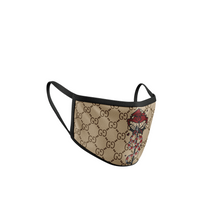 Load image into Gallery viewer, CUSTOM GUCCI Red Snake Flower face mask