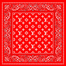 Load image into Gallery viewer, LV Face Bandana, CDC Bandana, Custom Bandana