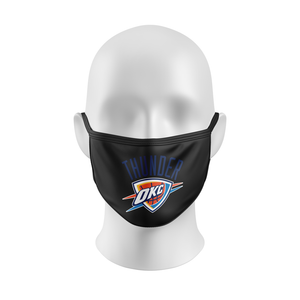 NBA MASK, NBA FACEMASK, THUNDER OKC, BASKETBALL, CUSTOM FACEMASK