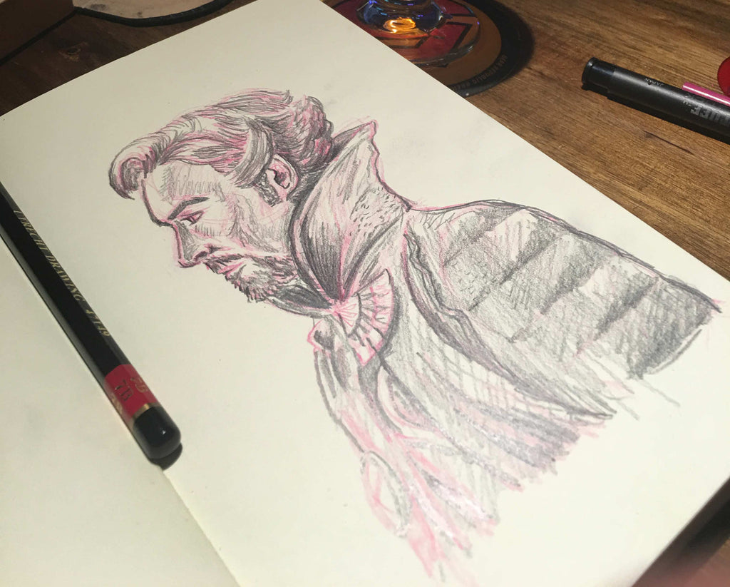 Dr. Stephen Strange Sketchbook Drawing
