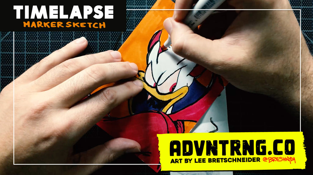 Devil Donald Duck Timelapse Drawing [Video]