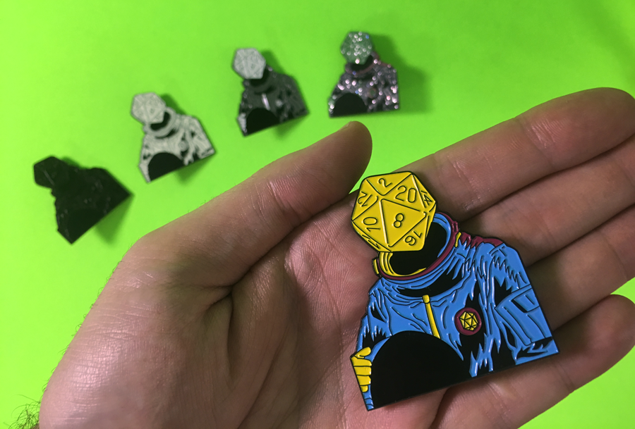 d20 Astronaut Pins are now available!