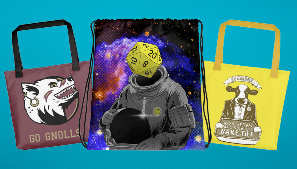 Tote Bags and Drawstrng Bags featuring artwork by Lee Bretschneider