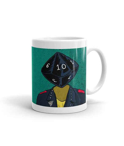 Roll Play Dice Portrait Mugs
