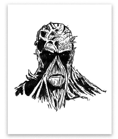 """Swamp Thing"" Ink Sketch"