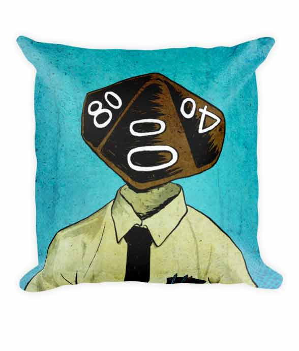 10d Pillow | Roll Play Dice Portraits