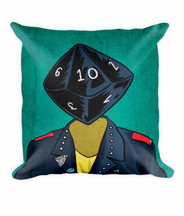 """d10 Punk"" Pillow 