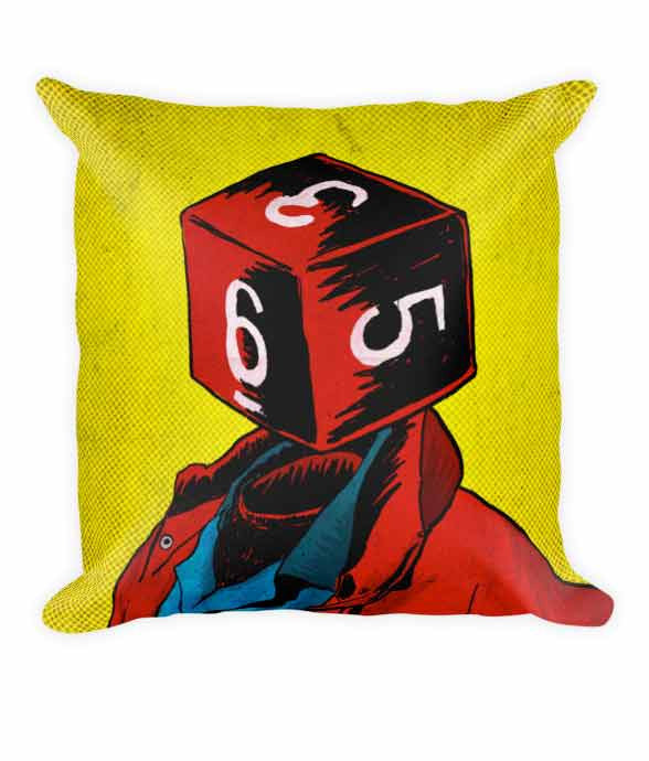 """d6"" Pillow 