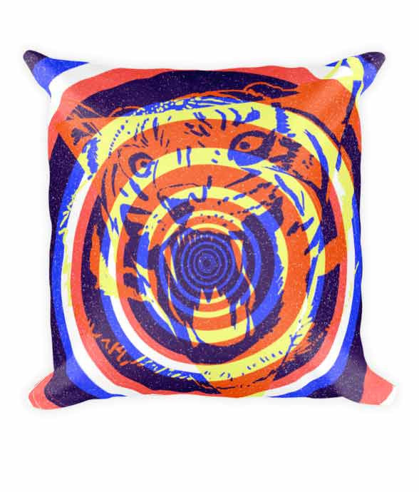 """Tiger Concentric"" Pillow"
