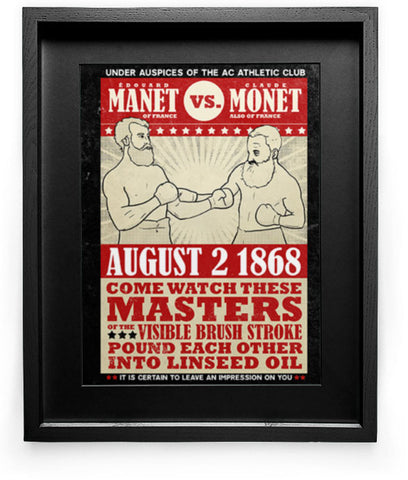 """Manet vs. Monet"" Art Print"