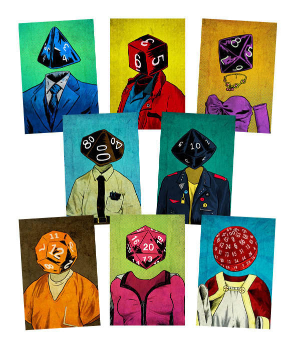 """Roll Play Dice Portraits"" Print Pack"