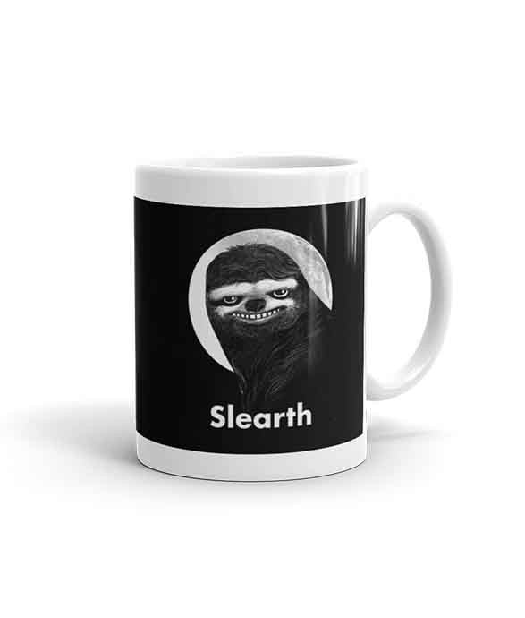 "11 oz ""Slearth"" Sloth Mug (right-side)"