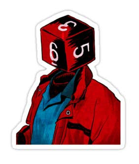 """d6"" Sticker (Approx. 3"" x 4"")"