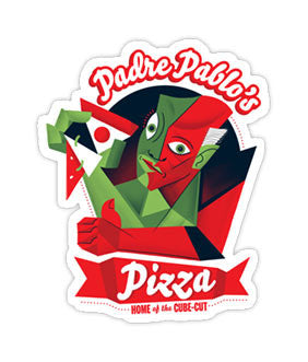 """Padre Pablo's Pizza"" Sticker 