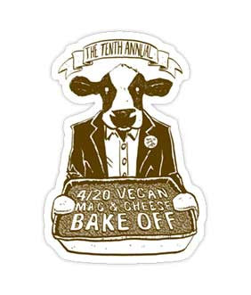 """Vegan Mac and Cheese Bake Off"" Sticker"