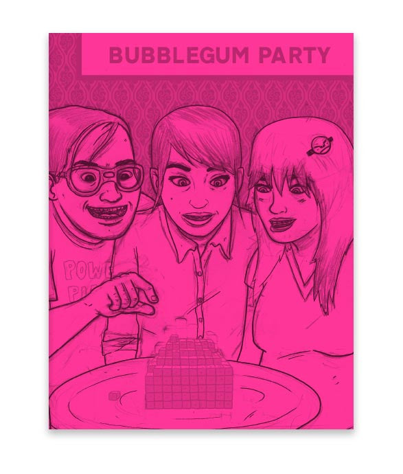 """Bubblegum Party"" Sketch Zine"