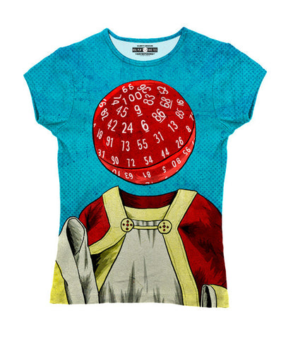 """d100"" Women's Allover Print T-Shirt"