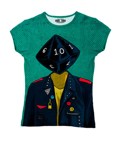 """d10"" Women's Allover Print T-Shirt"