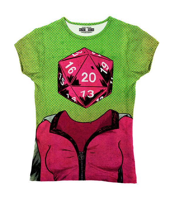 """d20"" Women's Allover Print T-Shirt"