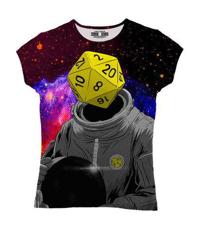 """d20 Astronaut"" Women's Allover Print T-Shirt"