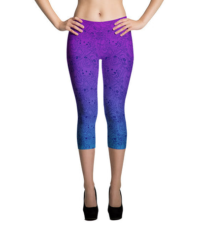 """Dice 'n Slice"" Capri Leggings"